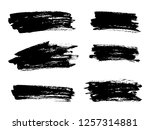 vector black paint  ink brush... | Shutterstock .eps vector #1257314881