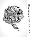hand drawn speech bubble. vector | Shutterstock .eps vector #125732639