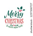 merry christmas and happy new... | Shutterstock .eps vector #1257330727