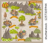 fantasy adventure map for... | Shutterstock .eps vector #1257335944
