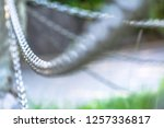 the iron chain is very close.... | Shutterstock . vector #1257336817