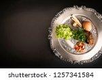 seder  dinner on the occasion... | Shutterstock . vector #1257341584