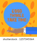 writing note showing good... | Shutterstock . vector #1257345364