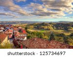 View On Red Tiled Roofs Of...
