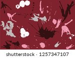 hand drawn set of colorful ink... | Shutterstock .eps vector #1257347107