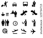 a set of airport icons | Shutterstock .eps vector #125734715