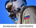 air force pilot flight suit... | Shutterstock . vector #1257353494