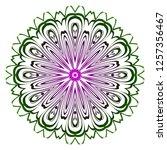 ornamental arabic pattern with... | Shutterstock .eps vector #1257356467