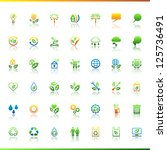 Collection Eco Web Icons.