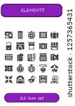 vector icons pack of 25 filled... | Shutterstock .eps vector #1257365431