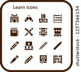 vector icons pack of 16 filled... | Shutterstock .eps vector #1257366154