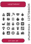 vector icons pack of 25 filled... | Shutterstock .eps vector #1257366634