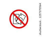 forbidden  gambling  card icon...