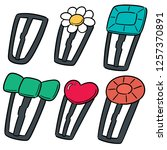 vector set of hairpin | Shutterstock .eps vector #1257370891