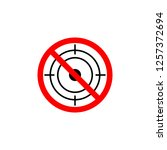 forbidden hunting icon on white ... | Shutterstock . vector #1257372694