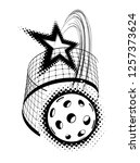 pickleball with star vector... | Shutterstock .eps vector #1257373624