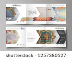 set of business templates for... | Shutterstock .eps vector #1257380527