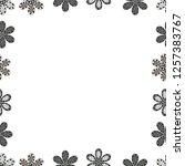 square frames doodles. vector... | Shutterstock .eps vector #1257383767