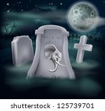 Death of Republican Party concept of tombstone with Republican symbol of Elephant on a grave marker (Democrat version also available) - stock vector