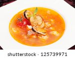 seafood soup | Shutterstock . vector #125739971
