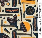 vector seamless pattern. torn... | Shutterstock .eps vector #1257401911