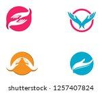 hand care logo template vector... | Shutterstock .eps vector #1257407824
