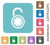 unlocked round combination lock ...   Shutterstock .eps vector #1257412291