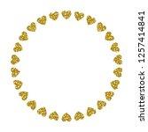 heart frame. cute golden... | Shutterstock .eps vector #1257414841