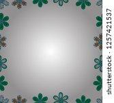 vector illustration. quadrate... | Shutterstock .eps vector #1257421537