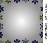 quadratic frames doodles.... | Shutterstock .eps vector #1257421561