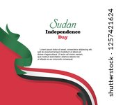 happy sudan independence day... | Shutterstock .eps vector #1257421624