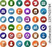 color back flat icon set  ... | Shutterstock .eps vector #1257423784