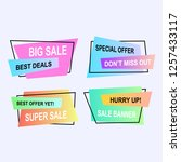 set of promotional badges and... | Shutterstock .eps vector #1257433117