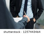business people with documents... | Shutterstock . vector #1257443464
