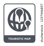 touristic map icon vector on... | Shutterstock .eps vector #1257446857