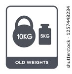 old weights icon vector on... | Shutterstock .eps vector #1257448234