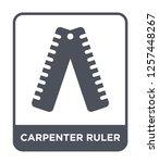 carpenter ruler icon vector on... | Shutterstock .eps vector #1257448267