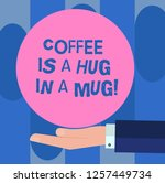 handwriting text coffee is a... | Shutterstock . vector #1257449734