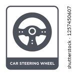 car steering wheel icon vector...   Shutterstock .eps vector #1257450607