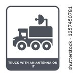 truck with an antenna on it... | Shutterstock .eps vector #1257450781