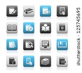 book icons    matte series | Shutterstock .eps vector #125745695