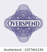 blue passport money style... | Shutterstock .eps vector #1257461134