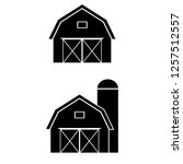 Farm Barn Black Filled Solid...