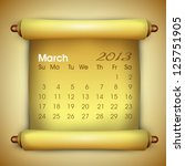 march month calender 2013. eps... | Shutterstock .eps vector #125751905