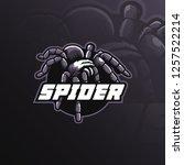 spider mascot logo design...   Shutterstock .eps vector #1257522214