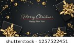 christmas background. winter... | Shutterstock .eps vector #1257522451