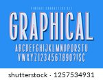 condensed comical 3d display... | Shutterstock .eps vector #1257534931