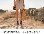 close up legs in shoes  fashion ... | Shutterstock . vector #1257535714