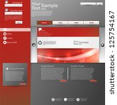 red grey website design template