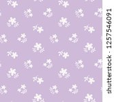 seamless pattern of flower and... | Shutterstock .eps vector #1257546091